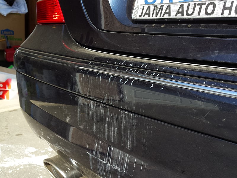 exterior auto detailing (scratch removal) BEFORE