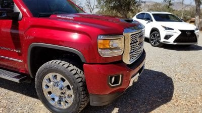 mobile auto detailing a duramax truck